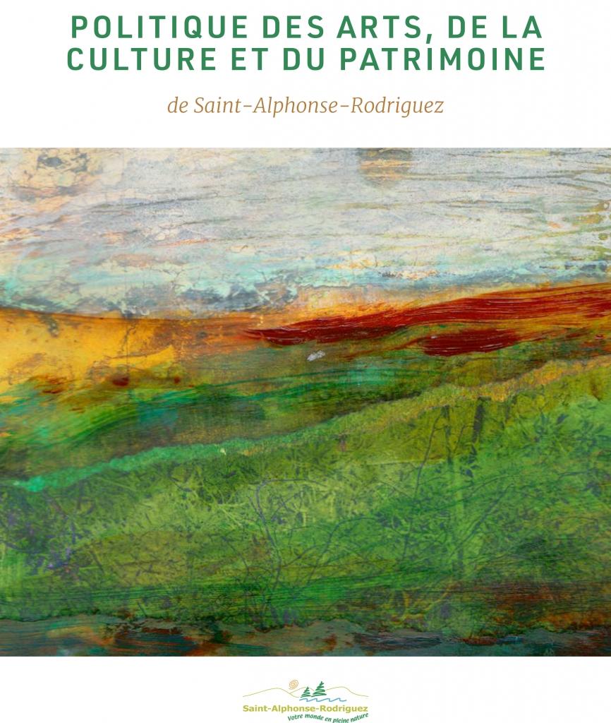 Politique des arts, de la culture et du patrimoine de Saint-Alphonse-Rodriguez 2019