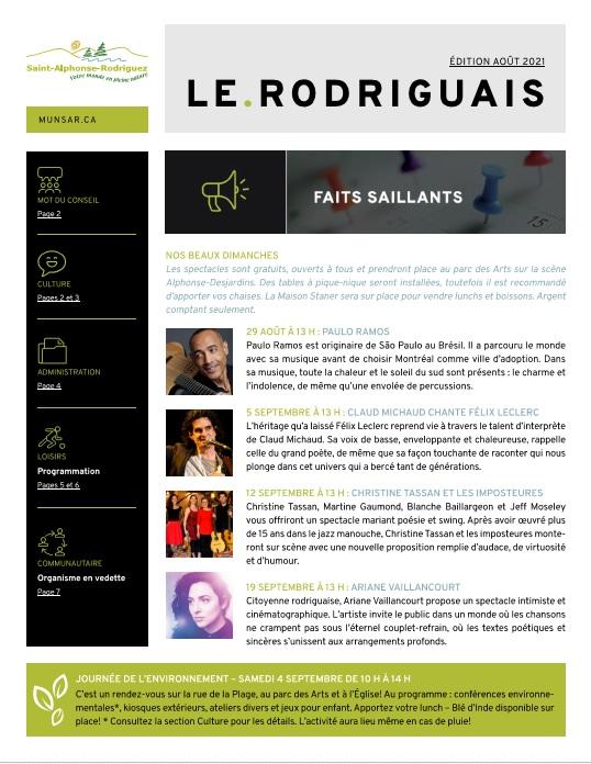 L'édition d'août 2021 du journal Le Rodriguais est maintenant en ligne.